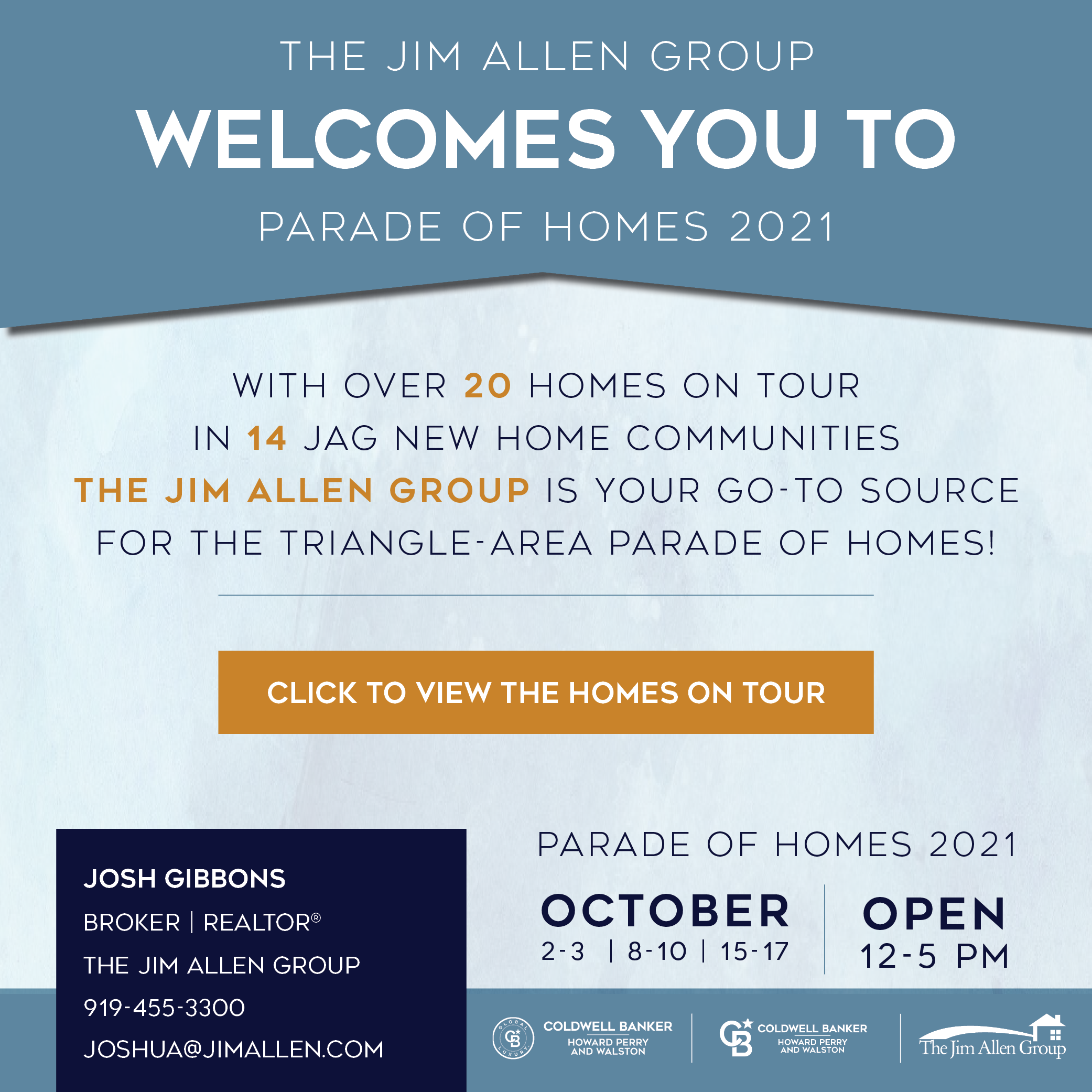 Josh Gibbons | Parade of Homes 2021 | The Jim Allen Group